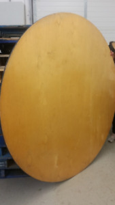 """Wooden 60"""" round & 72"""" round tables for sale! (used)"""