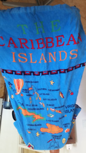 Convertible Beach Towel Backpack/Tote bought in the Caribbean