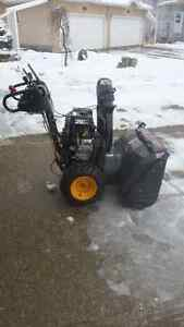 """30 """" Clearing Width Poulin Pro Snowblower Great Condition"""