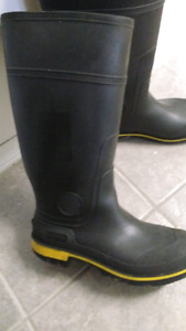 Mens Steal Toe Rubber Work Boots