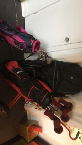 GOLF SET- Adult and child clubs w travel bag