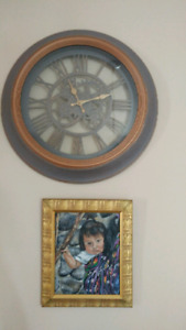 Wall clock and painting