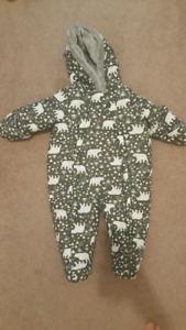 Infant snow suit 3-6m