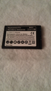 Blackberry 9000/9700 replacement battery