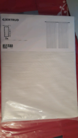 Ikea sheer/toile curtains (gjertrud)