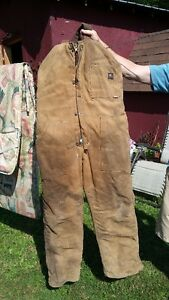 heavy duty lined bib coveralls