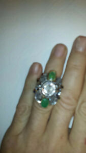 NEW! Lady's14k gold Ring 100% Natural Diamond-Emerald (OBO)