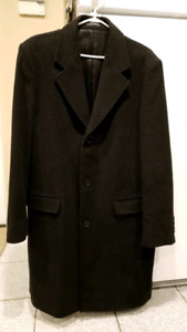 Mens Zara coat jacket spring 3/4 length size XL