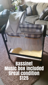 Bassinet and other baby items