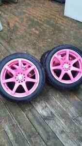 "17"" Rims With Tires - 5x114.3 - 5x100 London Ontario image 3"