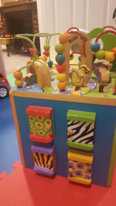 WOODEN PLAY CUBE - like new !