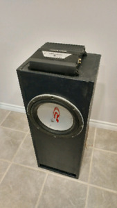 """12"""" Alpine Type R subwoofer in ported box - MRP-M350 class D amp"""