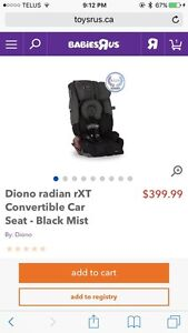 In search for a diono radian rXt convertible car seat