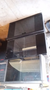 3 SMALL TV STANDS OR CORNER STORAGE CABINETS