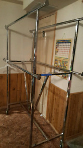 Industrial garment/clothing rack with wheels