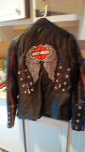 Womens leather Bike Jacket