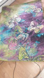 Very large colourful butterfly country rug