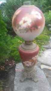 Antique Gone with the Wind Banquet Lamp