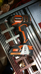 Ridgid Impact Driver and charger