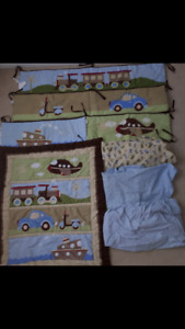 Bedding in Crib 8 piece sets from pet and smoke free home