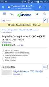 Frigidaire Gallery Series 19.7 cubic ft Chest Freezer
