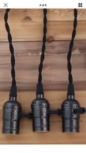 Three-Bulb Black Rope Lights