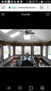 I have a dinning table, office desk with hutch and patio table.