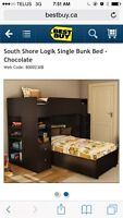 Bunk bed, with book case and desk