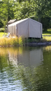 Boat shelter and ralway