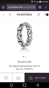Pandora Her Majestys stackable Ring