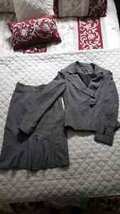 Le Chateau - grey blazer with matching pencil skirt