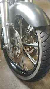 """21"""" contrast cut wheel with tire"""