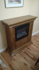 Electric fireplace mantel stove