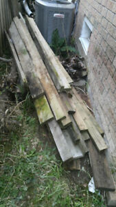 Free 2x4 & 2x6 pressure treated wood, assorted lengths