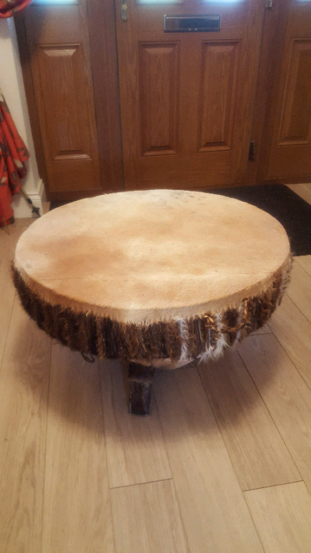 African Drum Coffee Table.Large Vintage Retro Leather Hide African Drum Coffee Table In Newcastle Tyne And Wear Gumtree