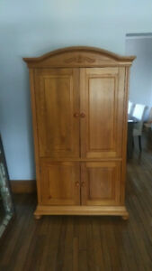 Solid Pine Wood Armoire / TV Stand