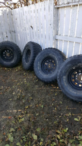 """33"""" Tires and rims for trade"""