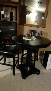 table tow chair bar table indoor and outdoor and glass set