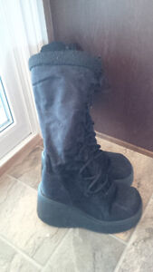 Black Swede Boots - Good Condition!