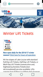 Two Adult Lift Tickets