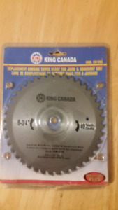 "KING CANADA  DOOR JAMB & UNDERCUT SAW BLADE 6 & 3/4""  7/8 ARBOR"