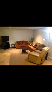 One Room for Rent in Large Shared Basement Suite in Thickwood.