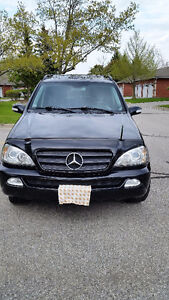 2003 Mercedes-Benz M-Class black SUV, Crossover