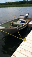 12 FT ALUMINUM BOAT WITH 9.9 EVINRUDE