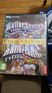 Rollercoaster tycoon 3 with wild expansion pack