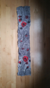 Felted Womens Scarf - Handmade