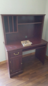 Desk with top hutch.