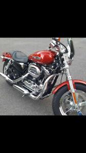 Harley Davidson sporster 1200 custom 2014, 10 000$  A1  bas kilo