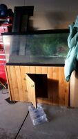 AQUARIUM 33 gallon with Wood Stand top