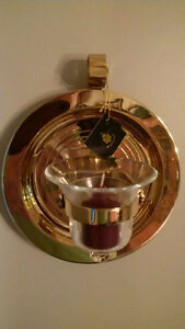 "partylite brass ""ships bell"" votive holder"